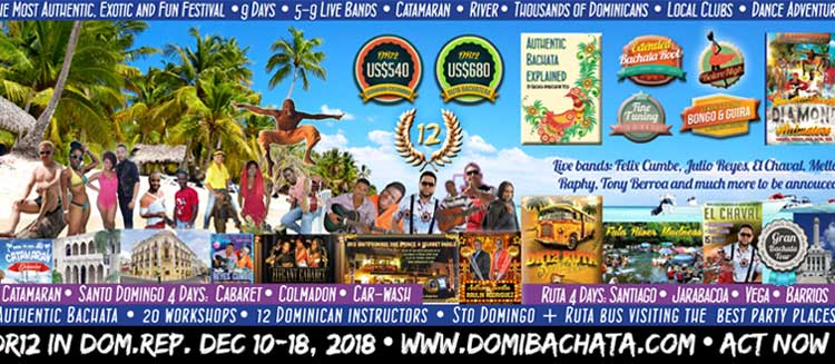 DR12 is the most authentic, exotic and fun bachata festival in the tropics